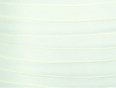 22m de ruban en satin blanc 10mm