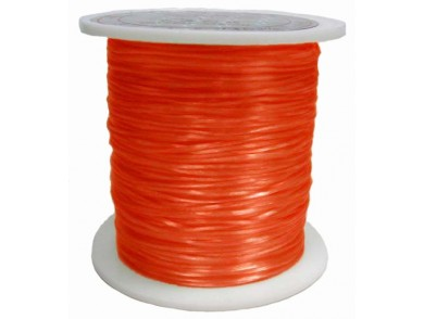Elastique 0.8 mm Orange Rouge