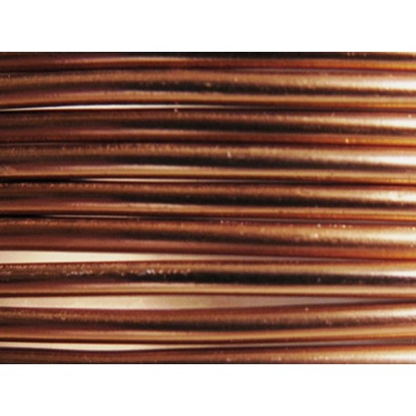 1 Mètre fil aluminium marron 3mm