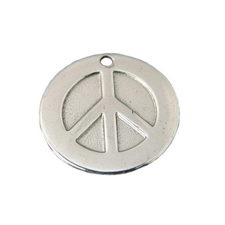 5 Breloques Peace and Love 12 mm