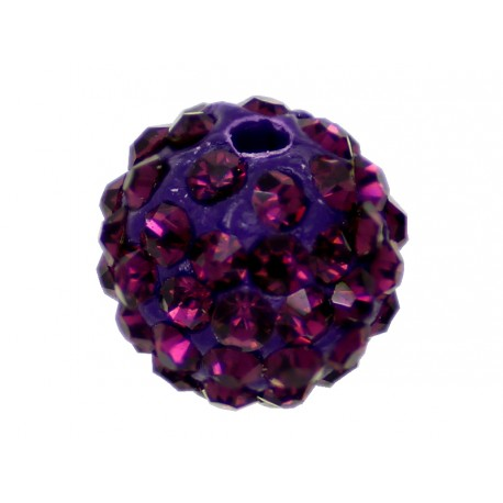 10 x Perle Pourpre 10mm