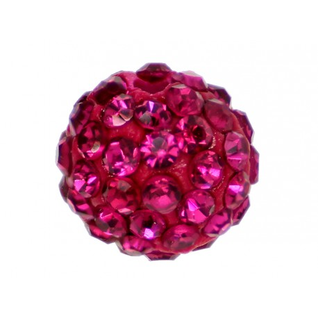 10 x Perle Rose Fushia 10mm